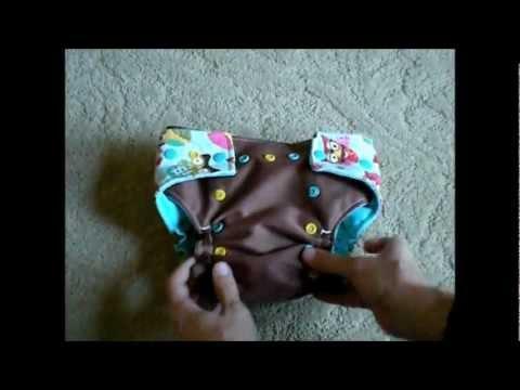 SillBilly Stinker Bottoms - OS AI2 Cloth Diaper - Review & Demo
