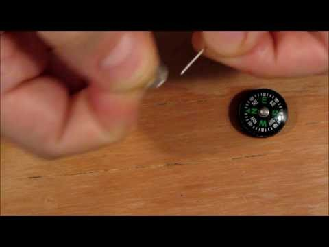 Micro Magnetic Retriever & Compass for Survival Kits, Howto