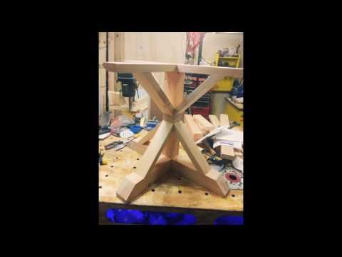 Wooden X Pedestal Table Build