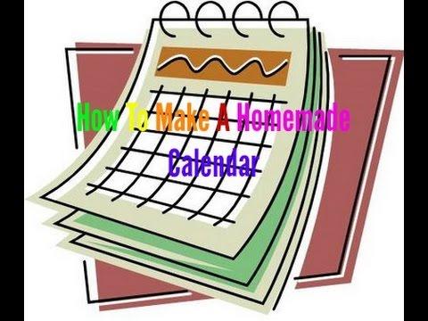 How To Make A Homemade Calendar
