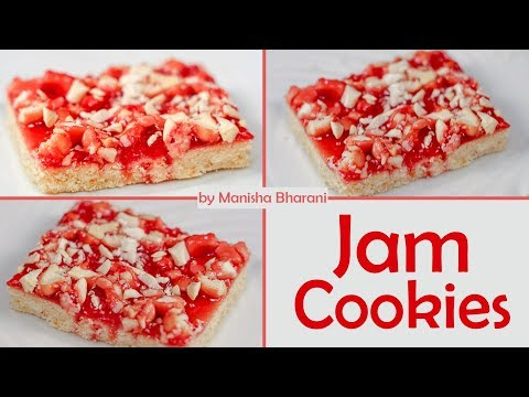Easy Jam Cookies Shortbread Jam Cookies Recipe जैम शोर्टब्रेड कूकीज By Manisha Bharani