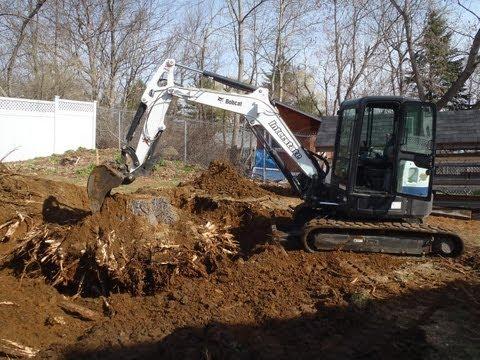 Bobcat E50 Removing Big 32