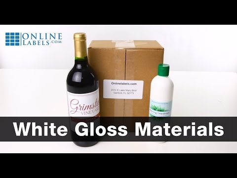 White Gloss Label Materials - See Features and Uses