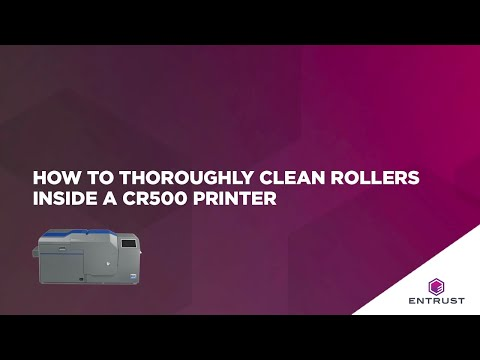How To Thoroughly Clean Rollers Inside A CR500 Printer