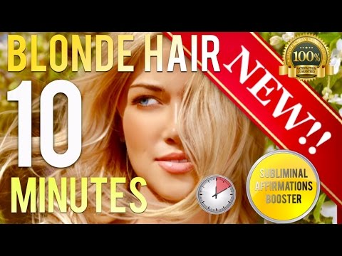 🎧 GROW BEAUTIFUL BLONDE HAIR IN 10 MINUTES! - SUBLIMINAL AFFIRMATIONS BOOSTER - REAL RESULTS DAILY