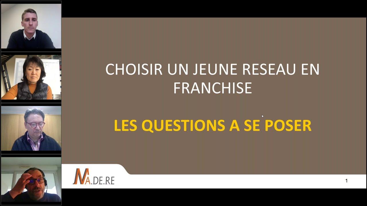 Forum Franchise 2020 : Choisir un jeune réseau de franchise, les questions à se poser.