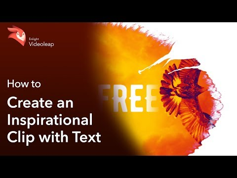 Enlight Videoleap: How to Create an Inspirational Clip with Text