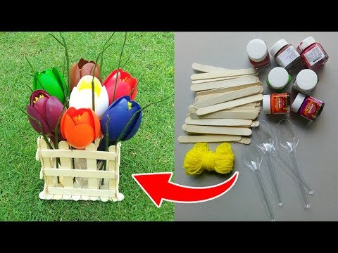 Easy crafts made with recycled materials || DIY Room Decor