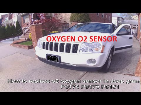 How to replace 02 o2 oxygen sensor in jeep grand cherokee p0174 p0175 p0151