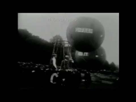 Balloon Race, Brussels, Gordon Bennett,1923