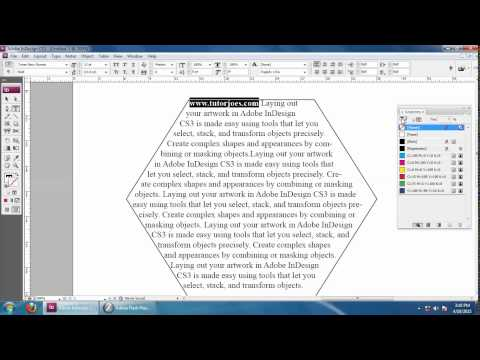 How To Create A Shape Inside Text In Indesign CS3
