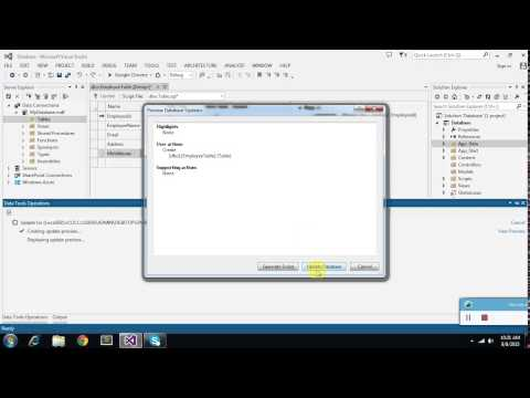 Creating and adding database into project in visual studio