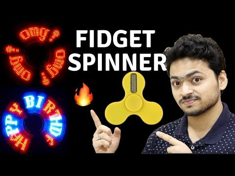 Programmable LED Fidget Spinner | Best Fidget Spinner | Tech Unboxing 🔥