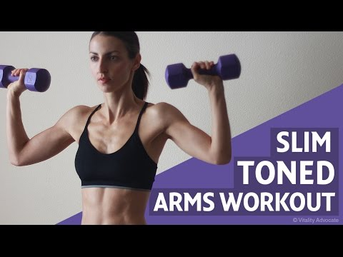 Sexy Toned Arm Workout For Women - Shoulders, Triceps & Biceps