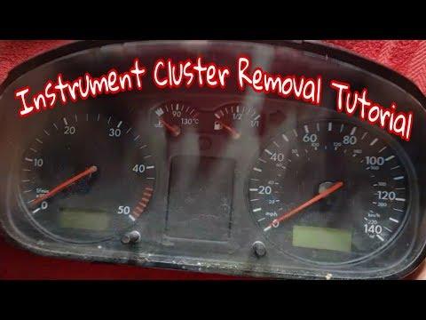 Removing an instrument cluster vw t4 transporter