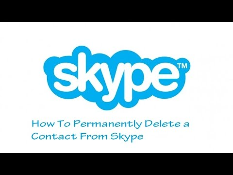 how to permanently delete a contact from skype