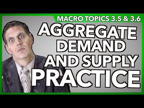 Aggregate Demand and Supply Practice- Macro 3:15