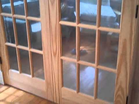 WE SHOW UP constructs a dividing wall and installs French Doors.mp4