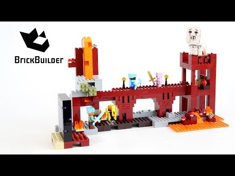Lego Minecraft 21122 The Nether Fortress - Lego Speed Build