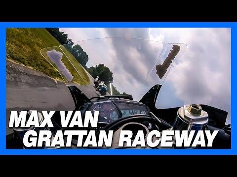 Max Van rides Grattan on the STG Yamaha R3 8.25.2018