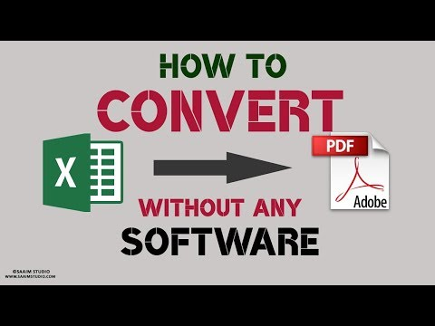 How to Convert EXCEL File to PDF without Any Software