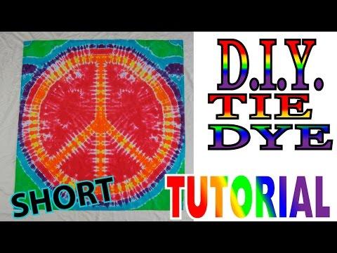 DIY Peace Sign Tapestry Tie Dye [Short Tutorial]