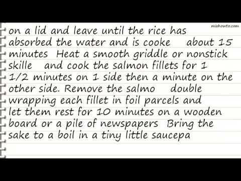 Recipe Sake Salmon and Rice