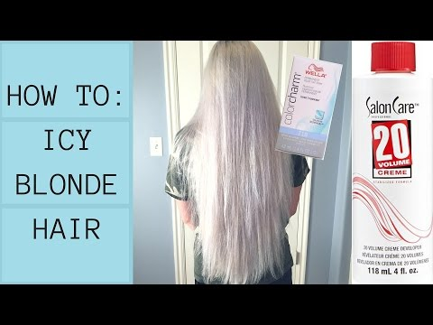 How I Get ICY BLONDE Hair AT HOME (SUPER CRINGEY TBH)