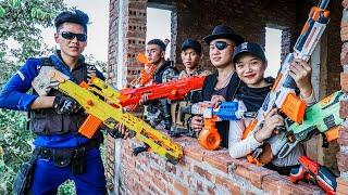 LTT Nerf War : Captain SEAL X Warriors Nerf Guns Fight Criminal Group Dr Lee Guns Bandits Greedy