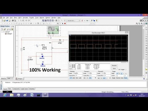 Simulation for 555 timer PWM Controller using Multisim