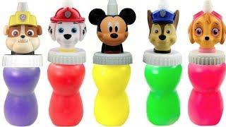 Paw Patrol & Mickey Mouse Slime Surprise Toys   Fizzy Fun Toys