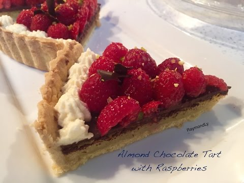 How to make Almond chocolate tart with raspberries