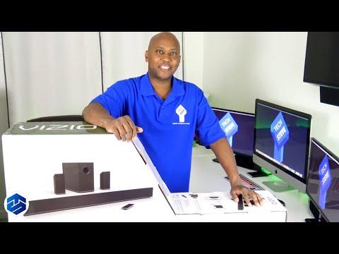 Vizio S3851X-C4 Digital Soundbar w/ Wireless Sub with Rear Speakers Unboxing And Setup
