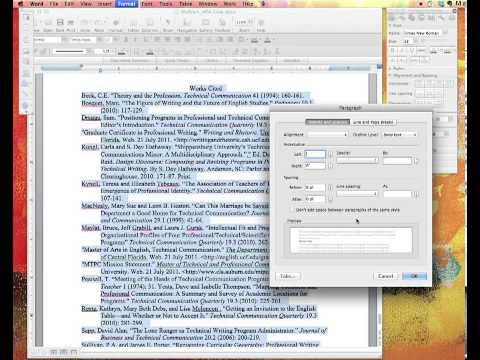 Setting Up Your Works Cited Page in MLA Using Word for Mac