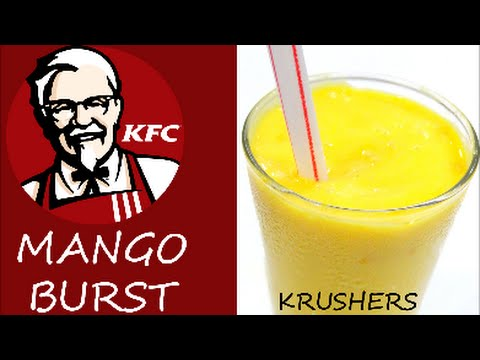 How to make Mango Burst (Krusher) like KFC at home