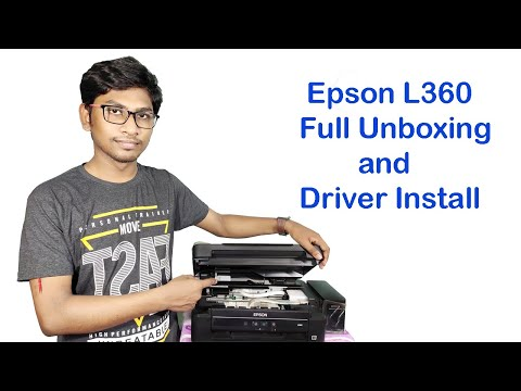 EPSON L360 printer full Setup step by step and unboxing | Print, scan, copy