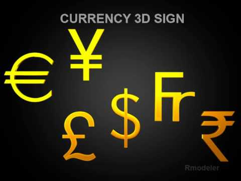 3D Model of Currency Sign Review