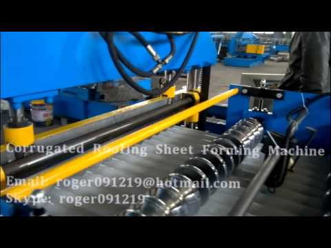 YX18-76-988 Corrugated Roof Sheet Roll Forming Machine made for Netherland Client