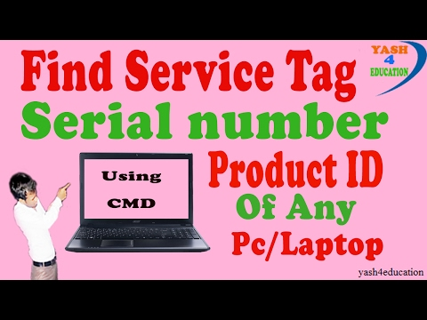 Find Service Tag / Serial Number / Product ID of Any PC/Laptop Using CMD Step By Step [hindi] !!