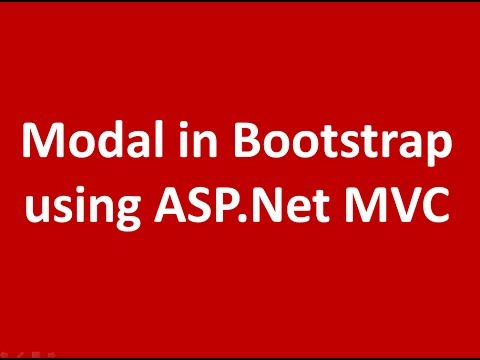 Simple Modal Example in Bootstrap using ASP.Net MVC Application