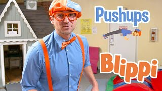 Exercise With Blippi At An Indoor Playground For Kids | Educational Videos For Toddlers