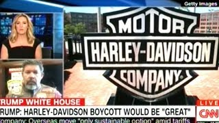 President Trump Calls For A Boycott Of Harley-Davidson Motorcycles!