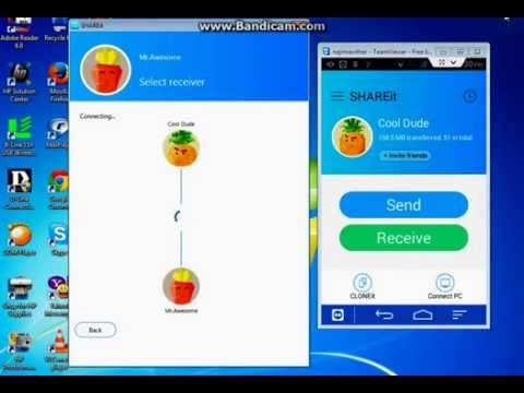 How To Share Files,Photos, from a PC/Laptop to a Android Phone/ Tab(wirelessly)  using SHAREit