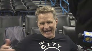 Steve Kerr jokes that Durant is