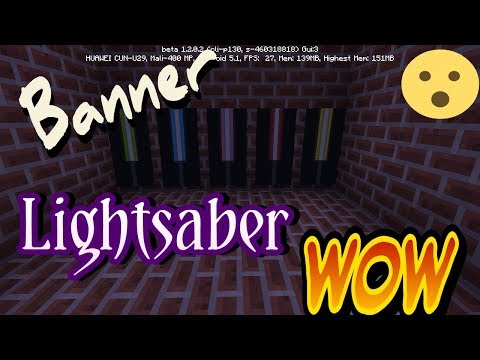 Minecraft - How to make LightSaber Banner