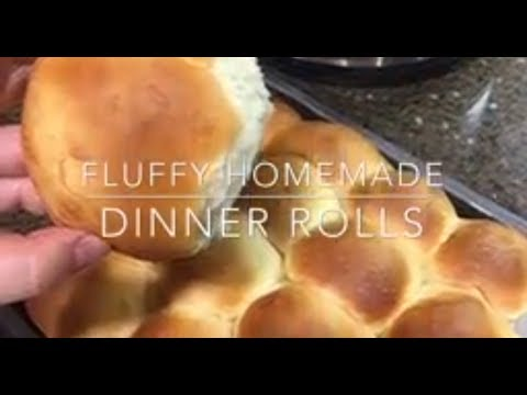 Fluffy homemade dinner rolls (IP) No knead