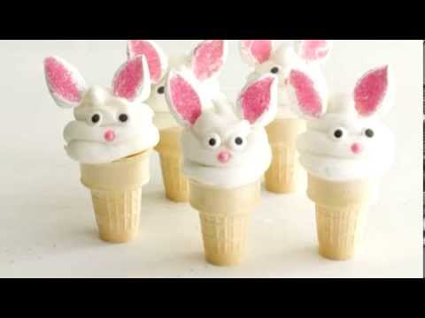 How to Make Easter Bunny Cake Cones
