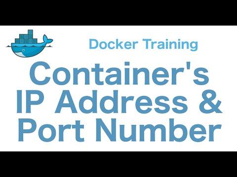 Docker Training 20/29: Docker Container IP Address and Port Number