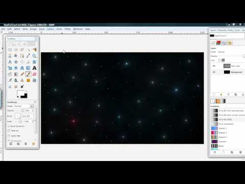 Moon and Stars Gimp Tutorial