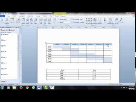 Gantt Charts and Tables in Word VIDEO 1: Insert;   Plot;   Data